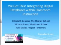 We Got This - Integrating Digital Databases Within Classroom Instruction