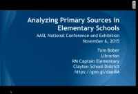 Analyzing Primary Sources in Elementary Schools