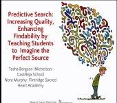 Predictive Search: Increasing Quality, Enhancing Findability by Teaching Students to Imagine the Perfect Source