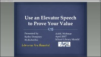 Use an Elevator Speech To Prove Your Value