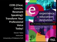 CCRS (Clear, Concise, Resonant Speaking): Transform Your Professional Voice Today!